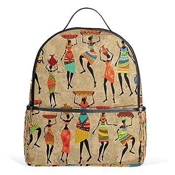 yzgo Mujer Africana con jarrón de Grunge pintura niños mochilas escolares para niños niñas jóvenes bookbags viaje bolsas para portátiles: Amazon.es: ...