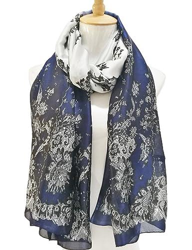 CIDEARY - Bufanda - para mujer Azul azul Talla única