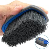 Relentless Drive Upholstery Brush Works as Carpet Brush and Leather Brush (2 in 1) - Stain & Hair Remover, Car Detailing Brus