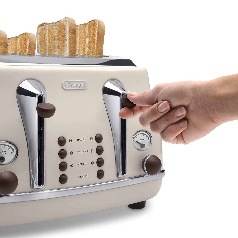 Amazon De Longhi CTOV4003BG 4 Slice Vintage Icona Toaster