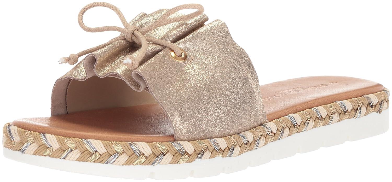 André Assous Women's Sariah Slide Sandal B078B7DKB2 8 B(M) US|Soft Gold