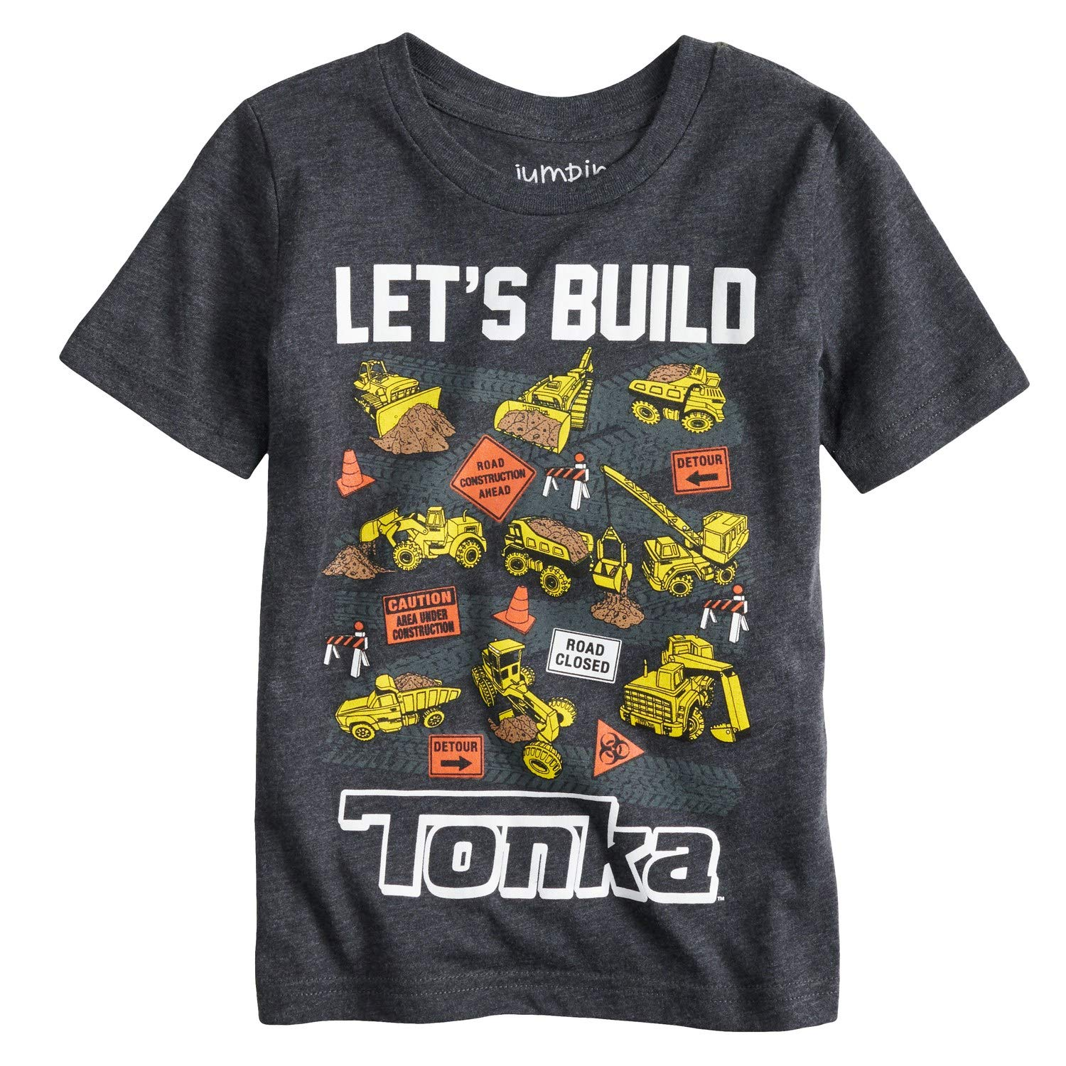 Jumping Beans Toddler Boys 2T-5T Let's Build Tonka Graphic Tee