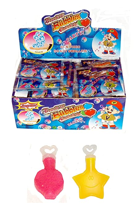 12x MINI TOUCHABLE BUBBLES Tub Birthday Party Loot Bag Filler Childrens Kids Toy
