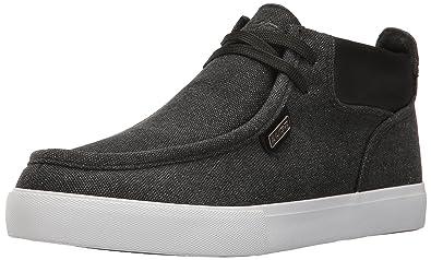 Mens Run Classic Fashion Sneaker, Charcoal/White/Black, 8 D US Lugz