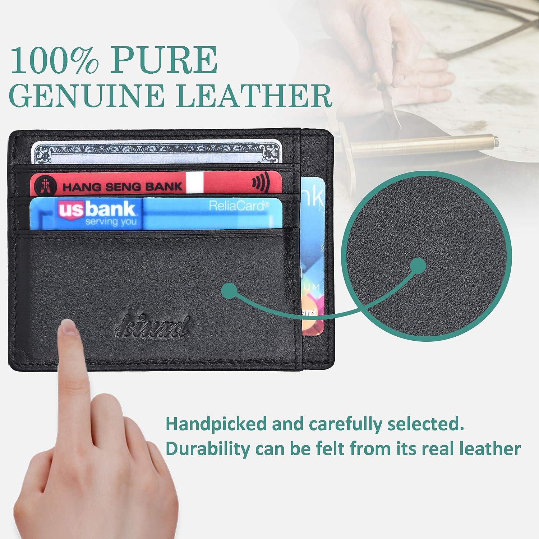 Minimalist Mens Wallet RFID Front Pocket Wallet Secure Thin Credit Card Holder