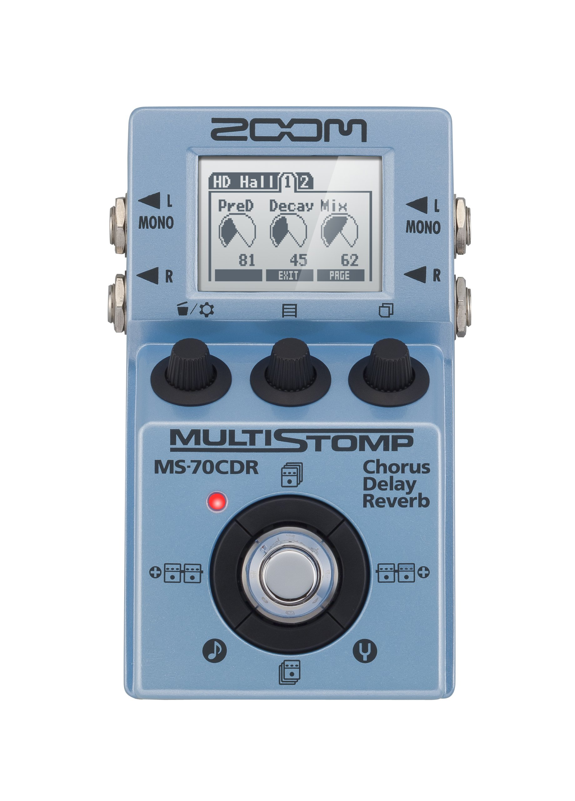 zoom ms 70cdr multistomp chorus delay reverb pedal