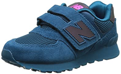 new balance kids 574. new balance unisex kids 574 low-top sneakers, blue (blue), 2