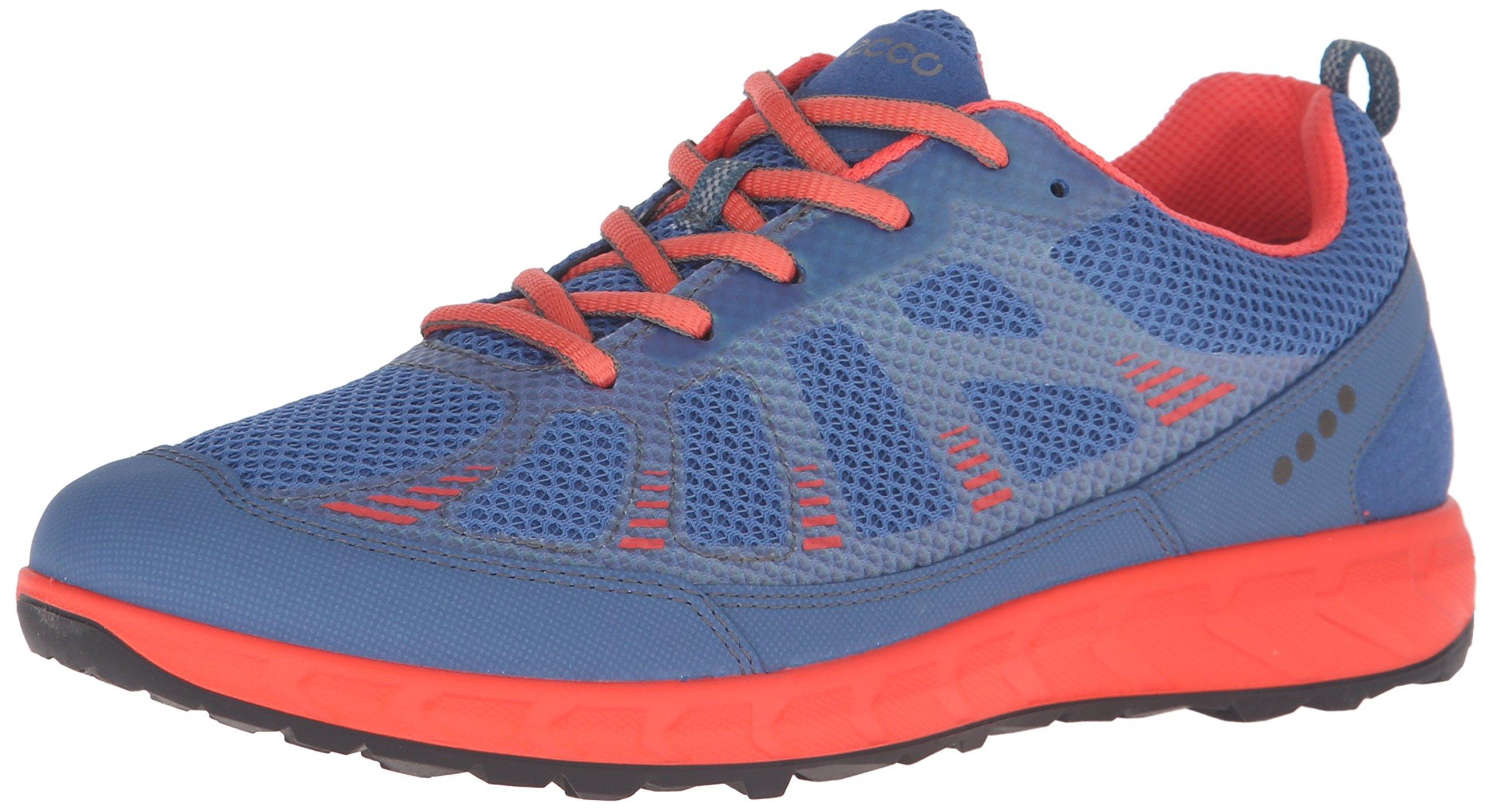 ECCO Women's Terratrail Running, Cobalt/Coral Blush, 39 EU/8-8.5 M US