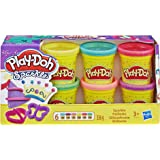 Play-Doh A5417EU8 Glitzerknete, für fantasievolles und kreatives Spielen, Multicolor