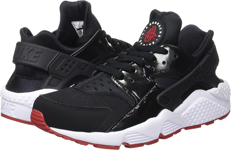 "Gym Red and White 318429-032 Nike Air Huarache /""Bred/"" Black"