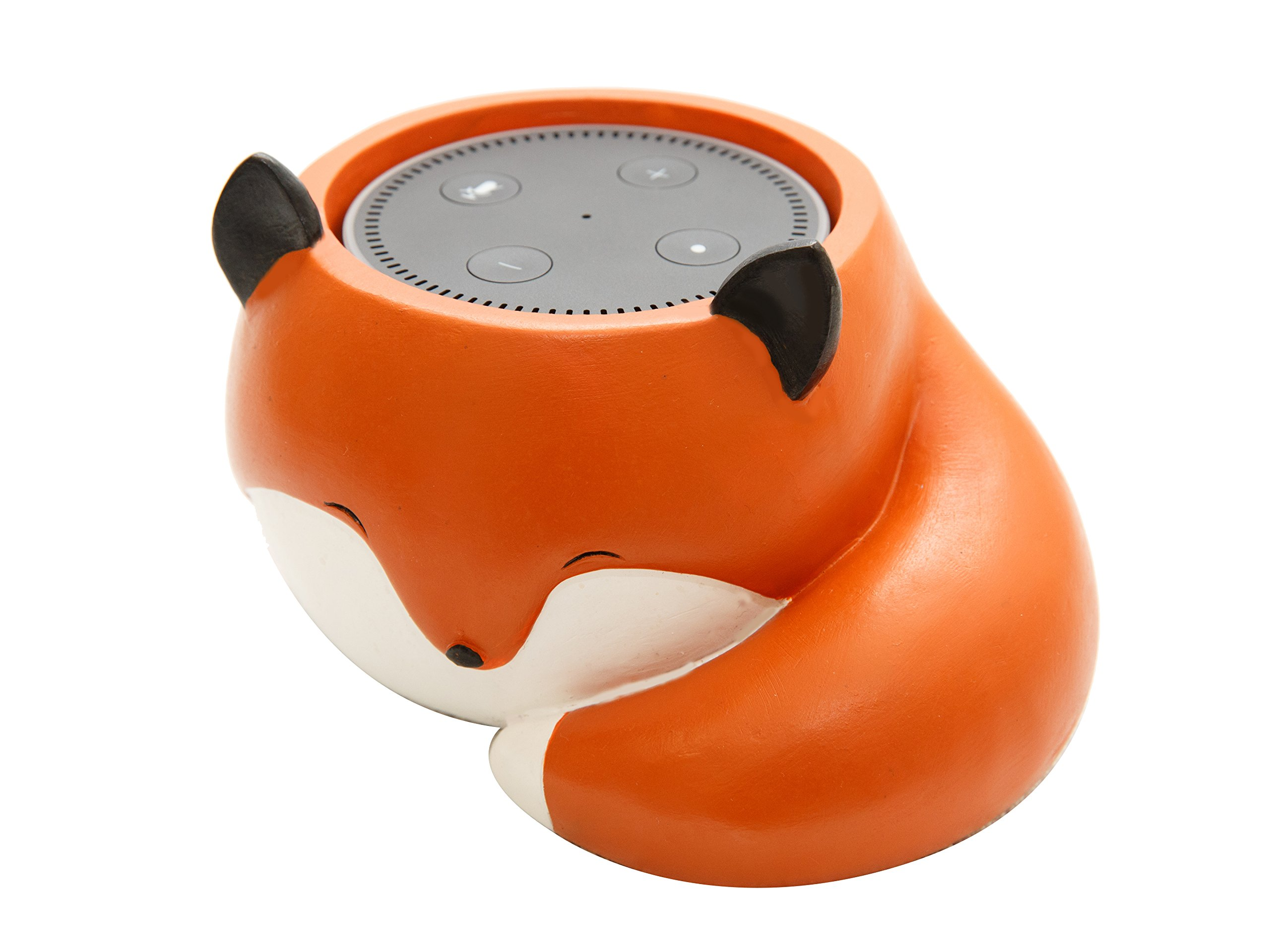Cute Fox Holder Stand Mount For Alexa Echo Dot, Bose, Anker, Home Mini round speakers Accessories