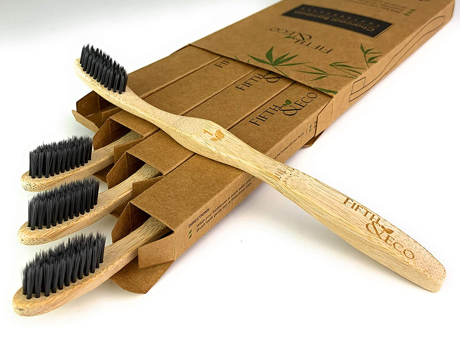 Amazon.com: Eco-friendly, Natural Charcoal Bamboo Toothbrush ...