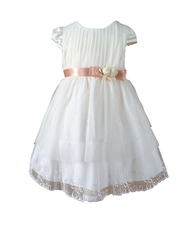 Bautizo fijo vestido boda vestido flores niña Anca