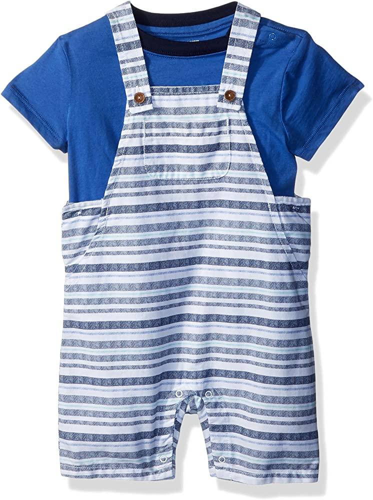 Gymboree Baby Boys Short Sleeve Striped Overall Set