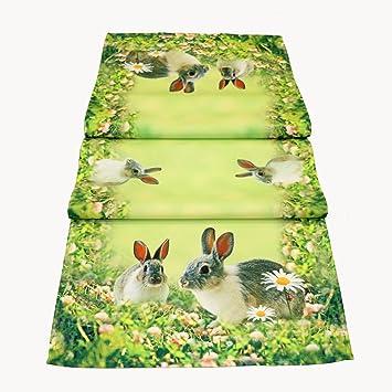 Tischdecke 85 X 85 Cm Mitteldecke Ostern Tischdeko Fruhling Grun