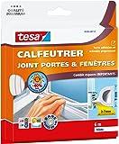 Tesa 05393-00112-00 Calfeutrer joint Portes & Fenêtres Comble tous les espaces de 3 a 7 mm - 6 m x 9 mm - blanc