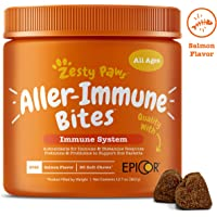 Zesty Paws Allergy Immune Supplement for Dogs - with Omega 3 Wild Alaskan Salmon Fish Oil &…