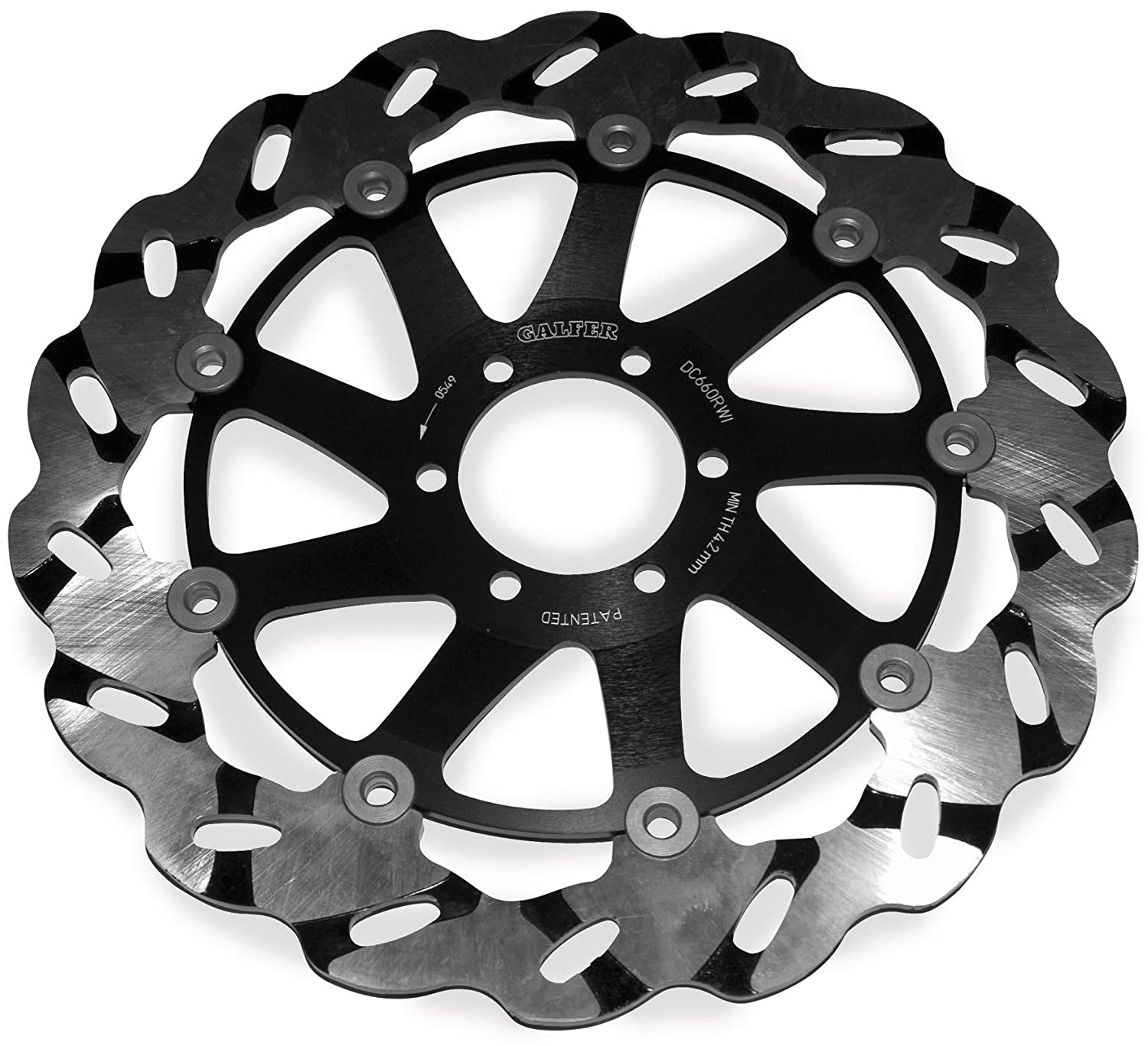 DF876CRWD Front Right Superbike Wave Rotor Galfer