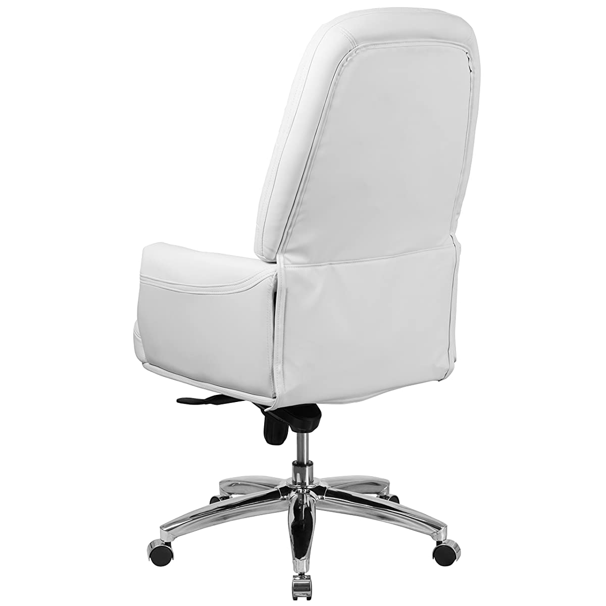 Flash Furniture High Back Traditional Tufted White Leather Multifunction Executive Swivel Chair with Arms