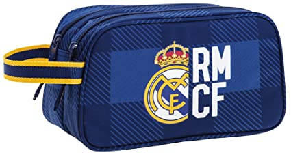 Real Madrid - Neceser 2 Cremalleras Adaptable a Carro (SAFTA 811724518)