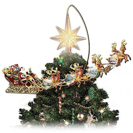 Image Unavailable - Amazon.com: Thomas Kinkade Holidays In Motion Rotating Illuminated