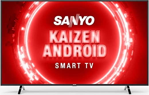 55 inches LED TV Sanyo Kaizen Series 4K Ultra HD Certified Android LED TV XT-55UHD4S (Black) (2020 Model)