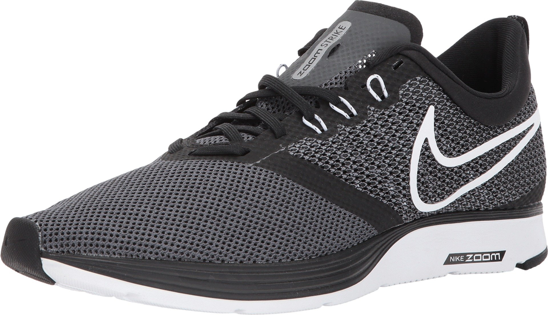 NIKE Men's Zoom Strike Running Shoe Black (9.5)
