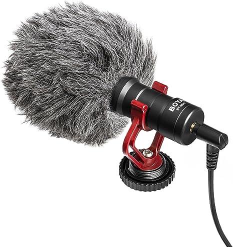 Boya BY-MM1 by Shotgun micrófono de vídeo universal compacto en ...