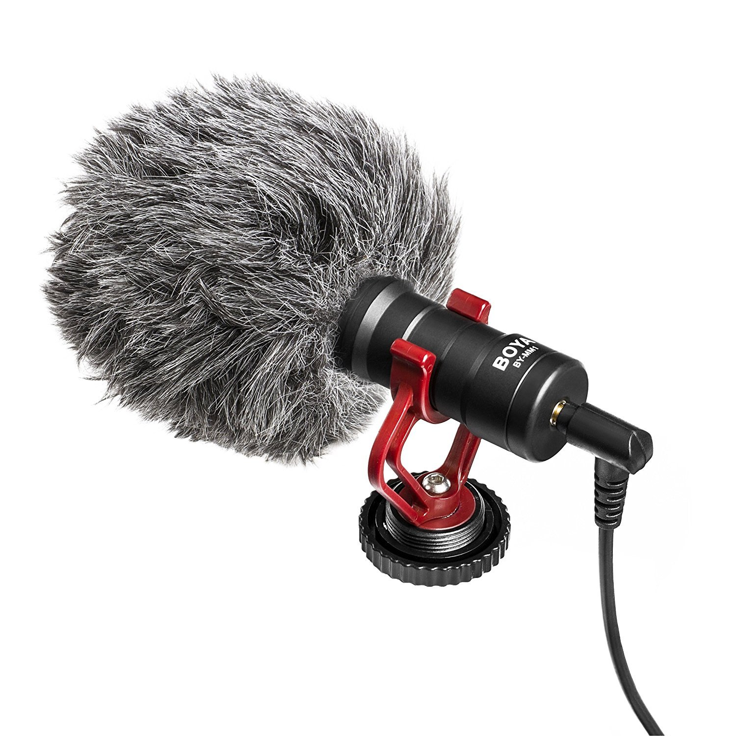 Boya Video Microphone Universal Compact on-Camera Mini Recording Mic  Directional Condenser for iPhone Android Smartphone Mac Tablet DSLR  Camcorder