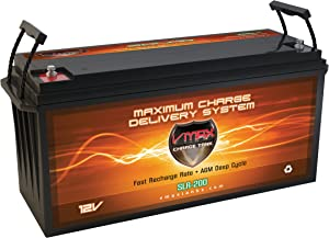VMAX SLR200 Group 4D 2.66kWh 12V 200AH AGM Deep Cycle 12 Volt Battery Compatible with Solar Power House Tiny Home Off Grid Battery