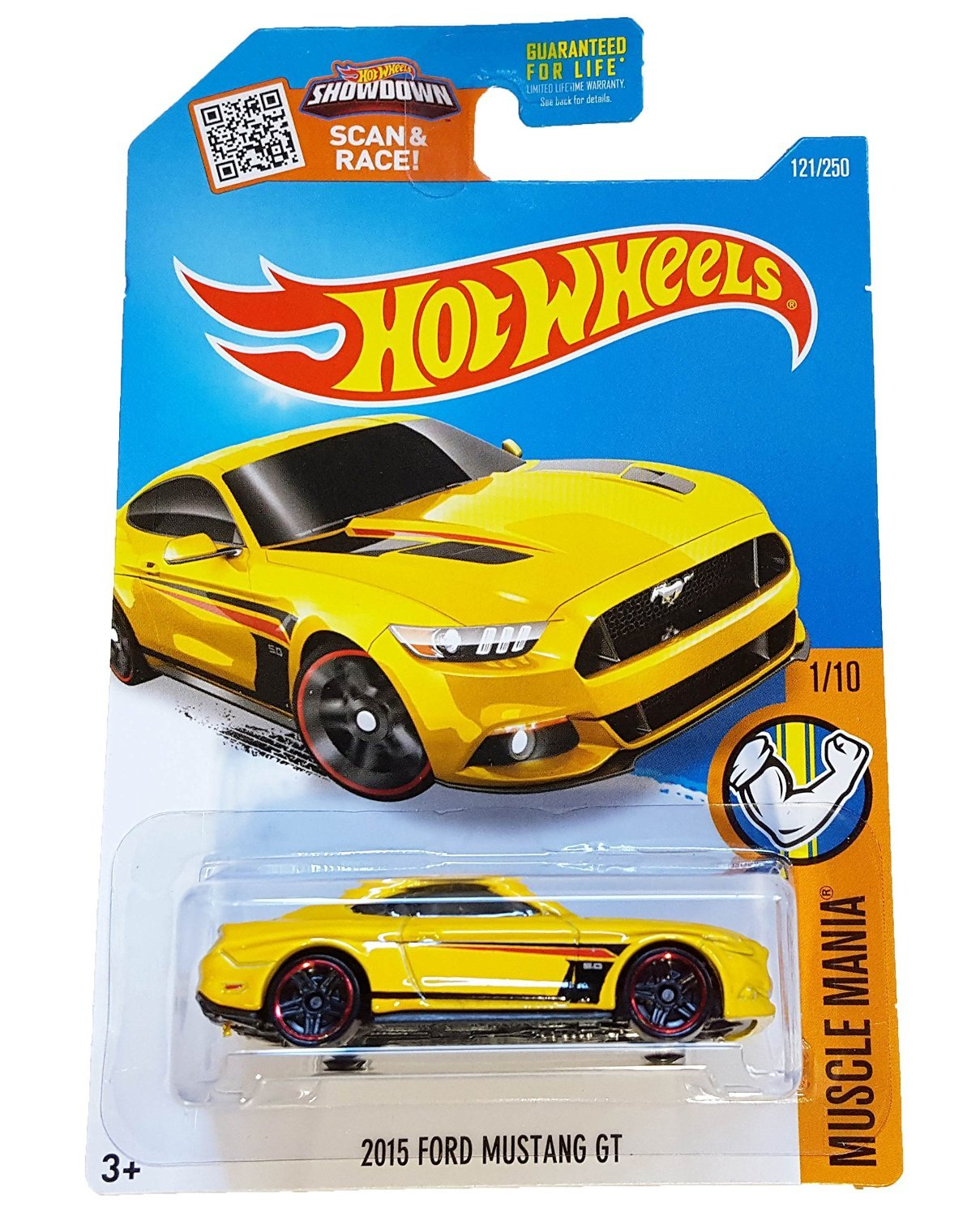 Amazon.com: Hot Wheels, 2016 Muscle Mania, 2015 Ford Mustang GT [Yellow]  Die Cast Vehicle #121/250: Toys U0026 Games