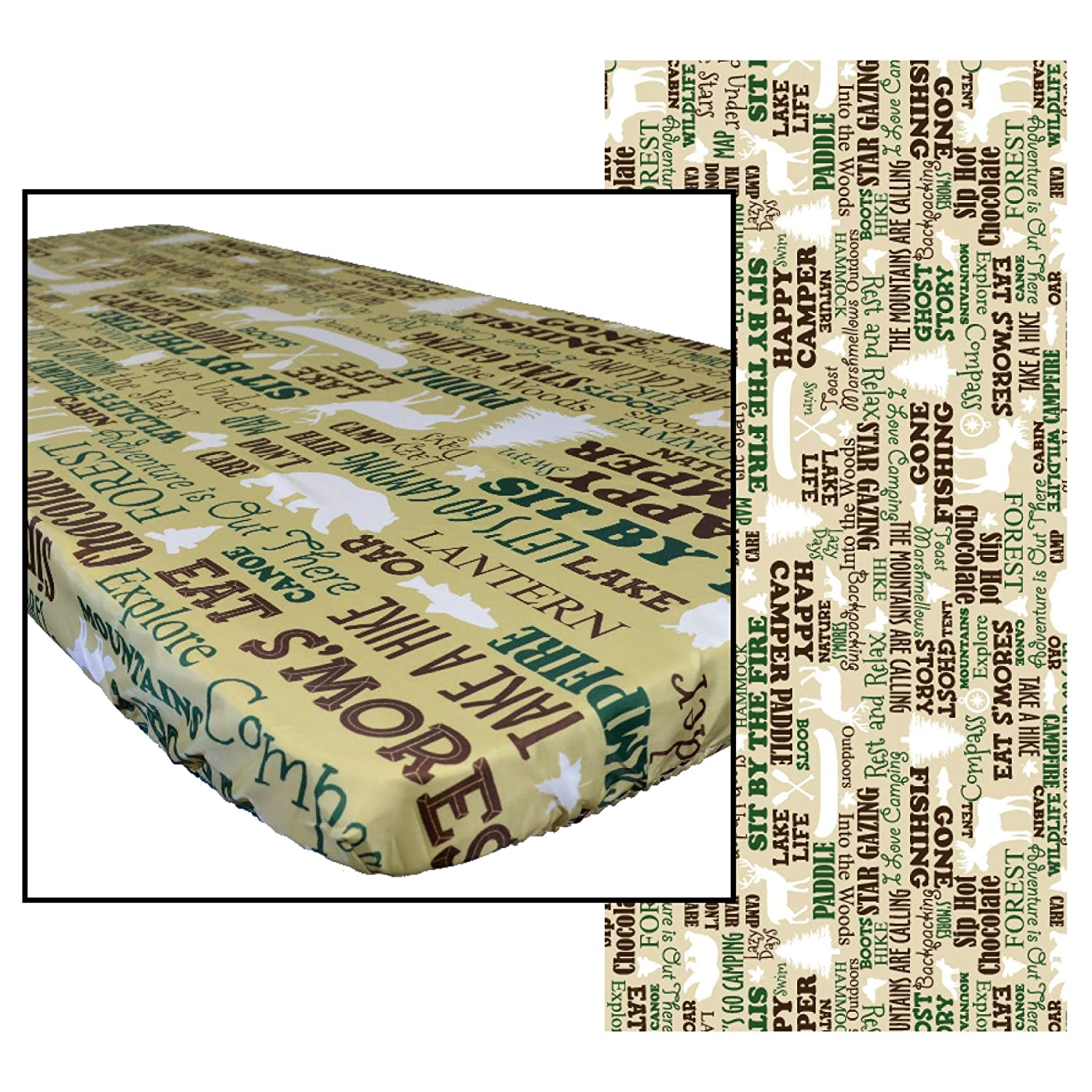In the Breeze 8004 Rustic Camping 30 Inch x 72 Inch Fitted Tablecloth 6ft 30in x 72in ,