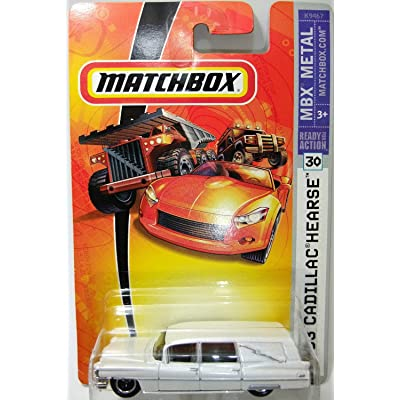 Matchbox 2007 MBX Metal 1:64 Scale Die Cast Car # 30 - 1963 White Pearl Cadillac Hearse: Toys & Games