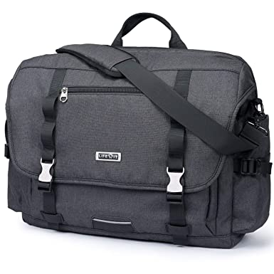 5ffa9e1896 Lifewit 15.6-17 inch Laptop Messenger Bag Military Business Briefcase Water  Resistance Multifunctional Work Crossbody