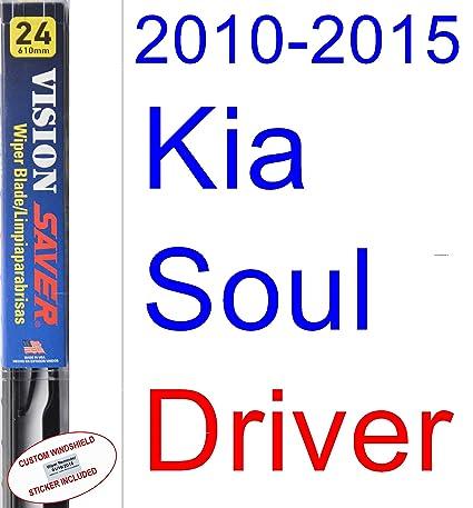 Amazon.com: 2010-2015 Kia Soul Replacement Wiper Blade Set/Kit (Set of 3 Blades) (Saver Automotive Products-Vision Saver) (2011,2012,2013,2014): Automotive