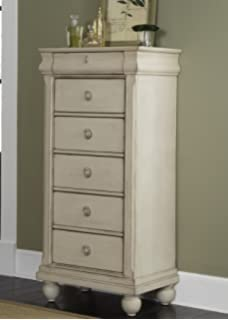 Liberty Furniture Rustic Traditions II Bedroom Lingerie Chest, Rustic White  Finish