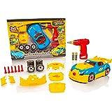 Take Apart® 2 en 1 Toy Racing Car - Juego de Juguetes Lights & Sounds Construction - Construye tu Propio Kit de Coche - Mejores Juguetes Gifts para 4/5/6/7/8 Year Olds Boys