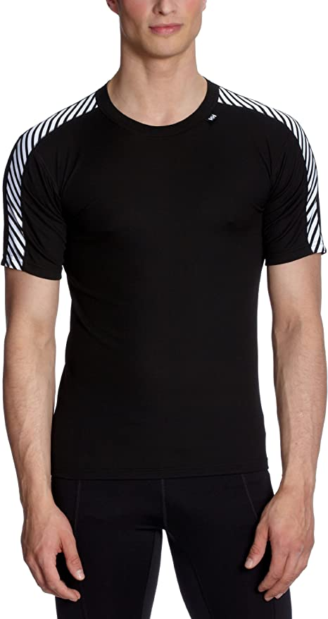 Helly Hansen Men/'s Lifa Dry Stripe Crew Base Layer Short Sleeve Size Large L