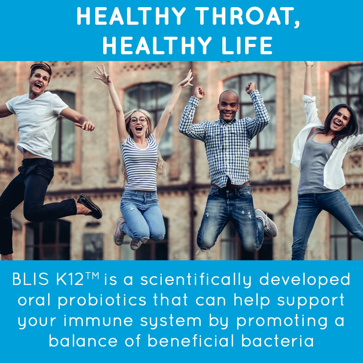 BLIS ThroatHealth Oral Probiotic, Most Potent BLIS K12 Formula Available, 2.5 Billion CFU, Throat Immunity Support for Adults and Kids, Sugar-Free Lozenges, 30 Day Supply by bliss (Image #4)