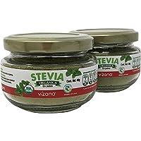 Stevia 100% orgánica certificada en polvo 40g Vizana Nutrition (2 pack)
