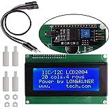Longruner Arduino ディスプレイ Arduino UNO R3 Mega2560適応 2004 LCD ディスプレイ モジュール IIC/I2C/TWI ブルースクリーン パネル拡張 ボード 4ピン ジャンパーワイヤーが付き LK51