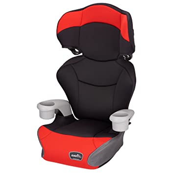 Evenflo Big Kid AMP High Back Booster Car Seat Cardinal Red