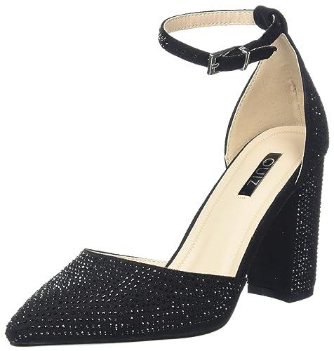 Quiz Diamante Block Heel Sandali con Cinturino alla Caviglia Donna Nero