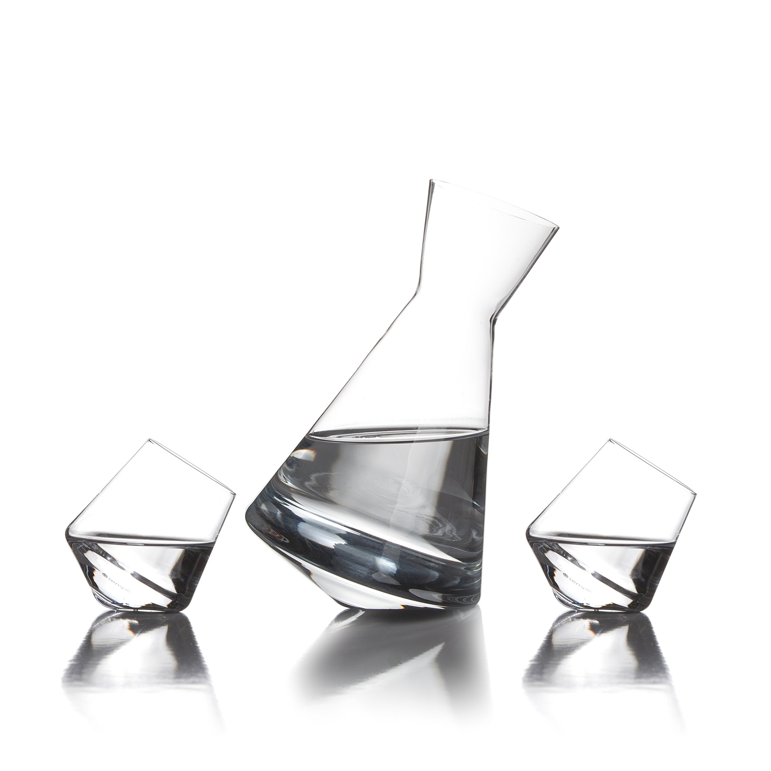 Sempli Vaso-Sake Set, Clear Decanter and 2 Shots in Gift Box