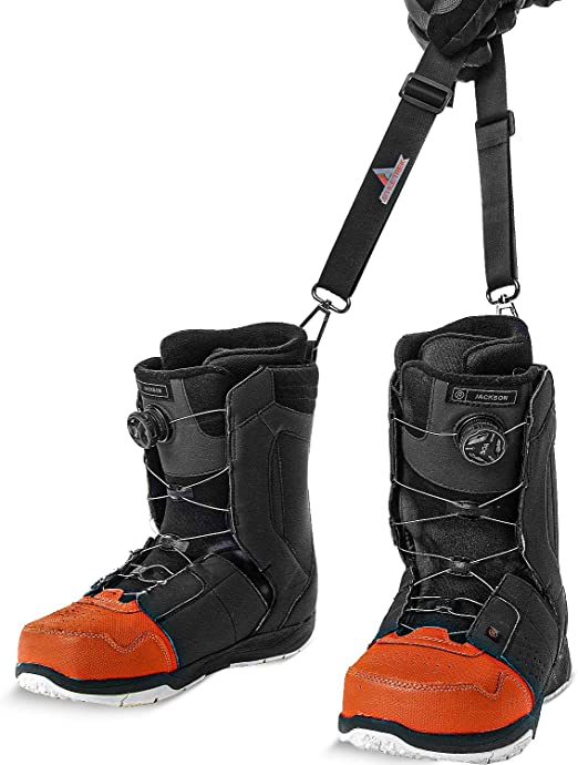 Yawayda Combo Ski Boot Carry Strap and Snowboard Boot Carrier Strap for Men Women Kids Shoulder Sling for Ice Skate Rollerblades Multi-Purpose Carry Strap