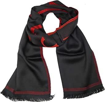 Versace ISC38R2WIT02846I4081 - Bufanda para hombre, color negro y rojo