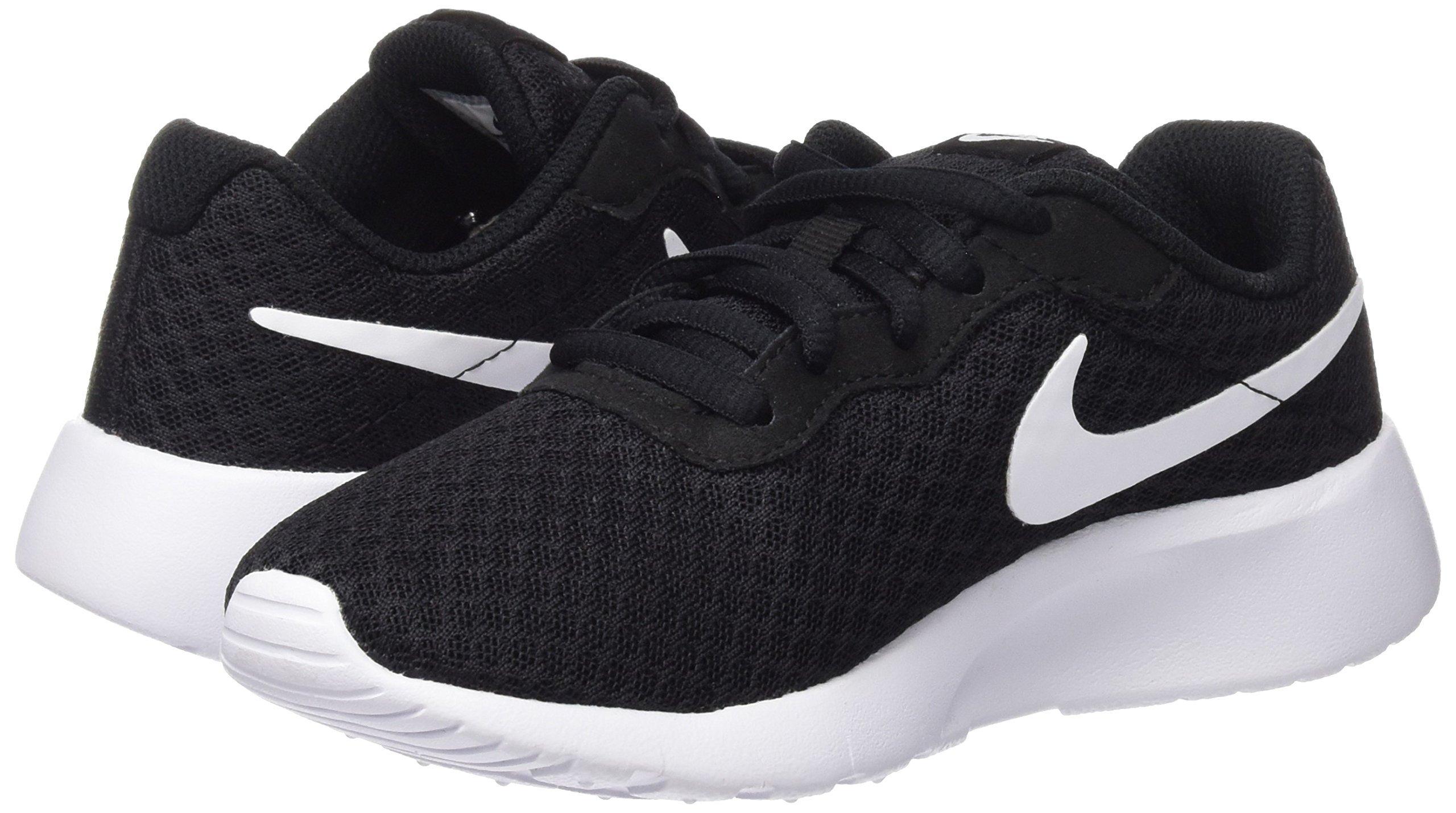 Nike Boy's Tanjun Running Sneaker Black/White-White 13 by Nike (Image #8)