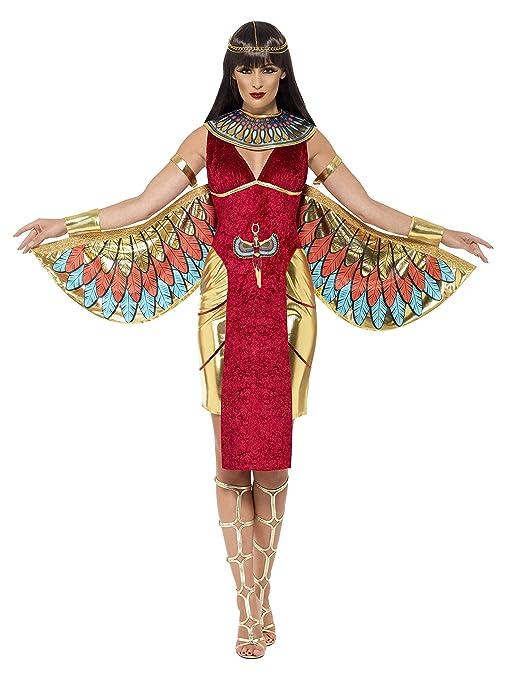 Smiffys Smiffys-43734S Disfraz de Diosa egipcia, con Vestido, alas, Collar y