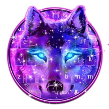 Amazoncom Neon Galaxy Wolf Keyboard Theme Appstore For - pictures of wolves with a galaxy background