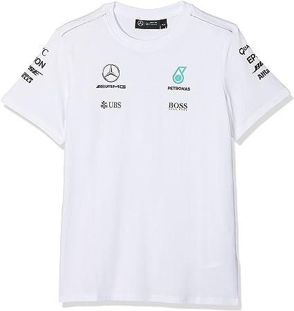 Mercedes Benz AMG Petronas F1 T-Shirt pour Homme Noir//Gris//Blanc Taille L